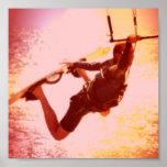 Kiteboarding Grab Poster Print