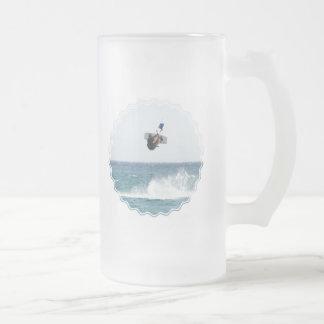 Kiteboarding Jump Frosted Beer Mug