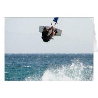 Kiteboarding Jump Greeting Card