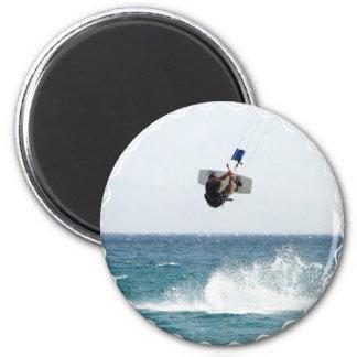 Kiteboarding Jump Magnet Refrigerator Magnet