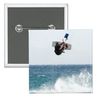 Kiteboarding Jump Square Pin