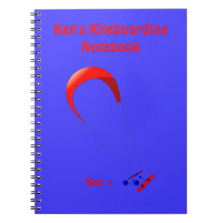 Kiteboarding Kitesurfing Gifts Spiral Notebook
