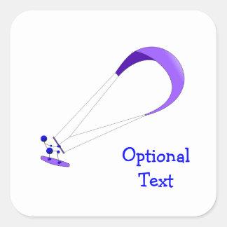 Kiteboarding Kitesurfing Gifts Square Sticker