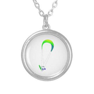 Kiteboarding - Kitesurfing Silver Plated Necklace