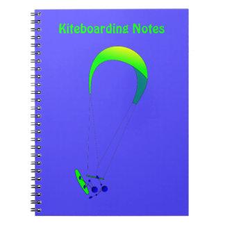 Kiteboarding - Kitesurfing Spiral Notebook