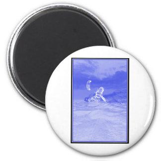 Kiteboarding lateral azul imanes