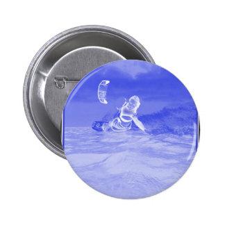 Kiteboarding lateral azul pin