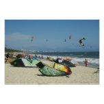 Kiteboarding on Bucerias Beach Mexico Poster