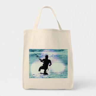 Kiteboarding Organic Grocery Tote Bag