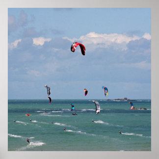 Kiteboarding race poster