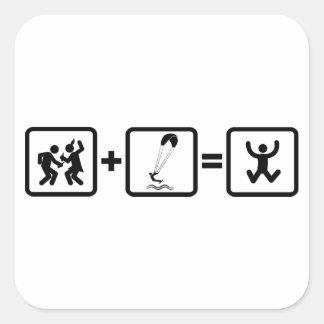 Kiteboarding Square Sticker