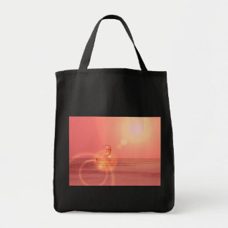 Kiteboarding Sunset Grocery Tote Tote Bags