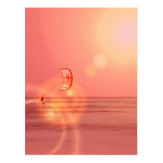 Kiteboarding Sunset Postcard