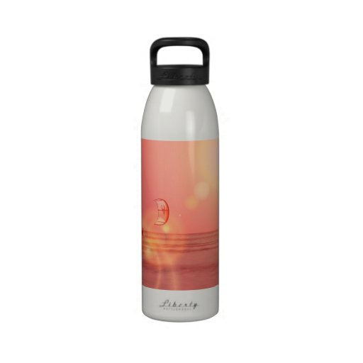 Kiteboarding Sunset Water Bottle