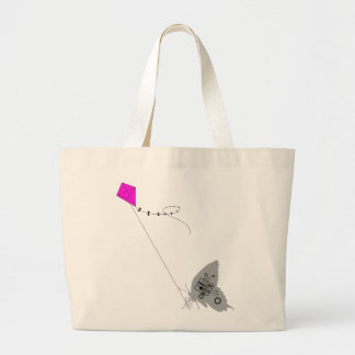 Kiteflying Butterfly Large Tote Bag