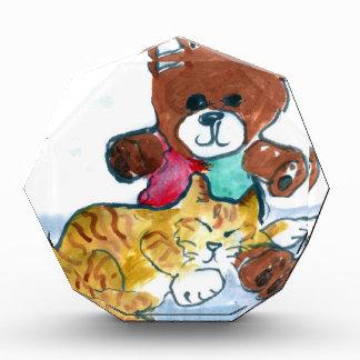 Kiten's Teddy Bear Nap Acrylic Award