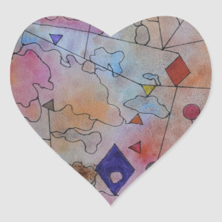 Kites and Balloons. Heart Sticker