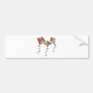 Kites  colorful bumper sticker