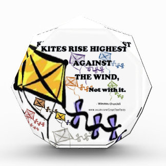 Kites Fly Highest Against The Wind - Not With It Acrylic Award