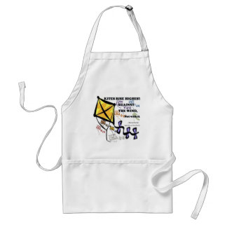 Kites Fly Highest Against The Wind - Not With It Adult Apron