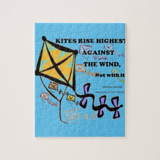 Kites Fly Highest Against The Wind - Not With It Puzzle