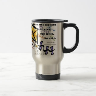 Kites Fly Highest Against The Wind - Not With It Travel Mug