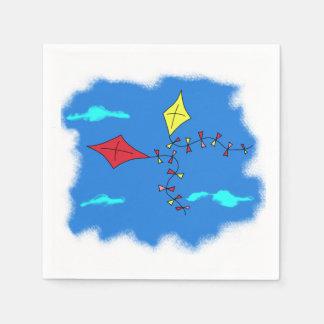 Kites in the Blue Sky Paper Napkin