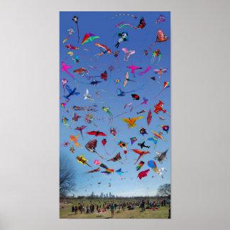 Kites Kites Kites In the Sky Poster