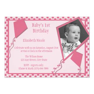 Kites n' Kids 5x7 Paper Invitation Card