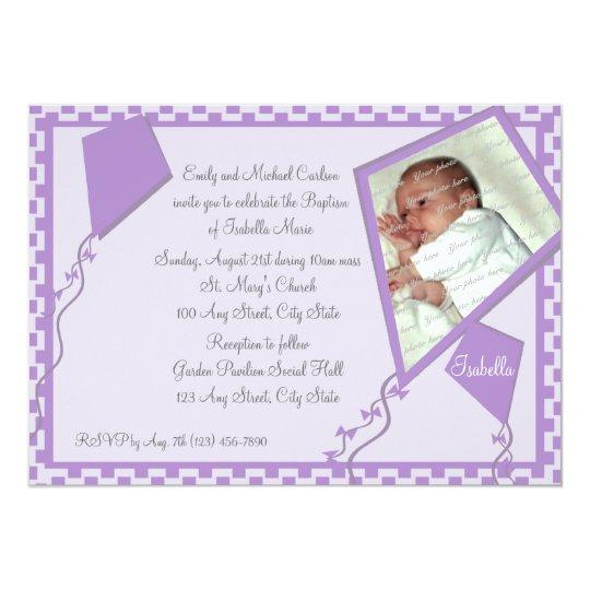 Kites Photo/ Baptism Card
