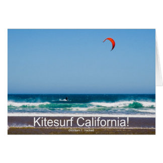 ¡Kitesurf California! Productos Tarjeta De Felicitación