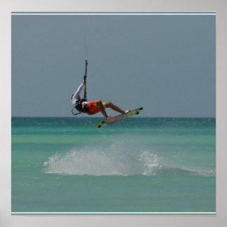 Kitesurfer Air Poster