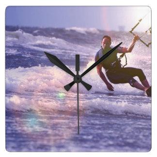 Kitesurfer Clock