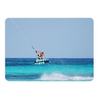Kitesurfer Grab Personalized Invitation