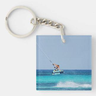 Kitesurfer Grab Single-Sided Square Acrylic Keychain