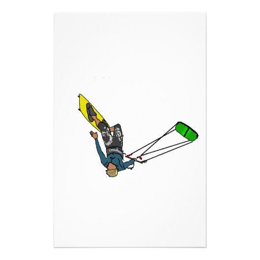 kitesurfer papelería de diseño