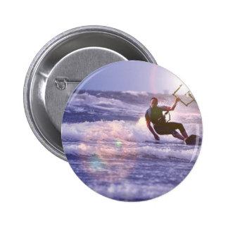 Kitesurfer Round Button