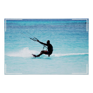 Kitesurfer silueteado impresiones