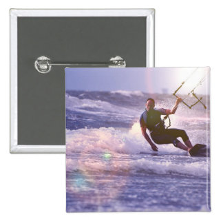 Kitesurfer Square Pin