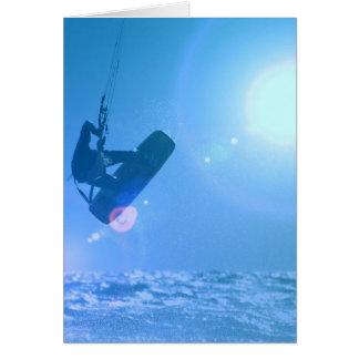 Kitesurfing Air Greeting Cards