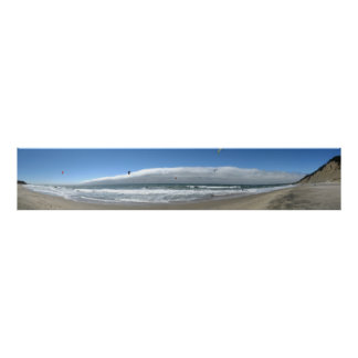Kitesurfing AT Beans Hollow State Beach Poster