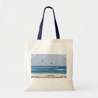 Kitesurfing Beach Tote Bags