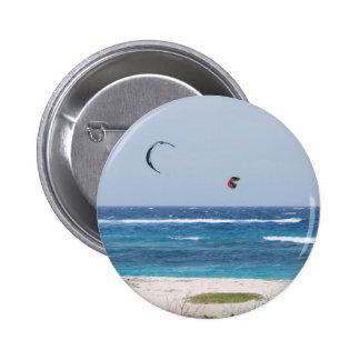 Kitesurfing Beach Pinback Buttons