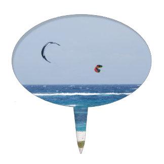 Kitesurfing Beach Cake Picks