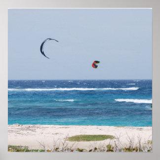 Kitesurfing Beach Poster