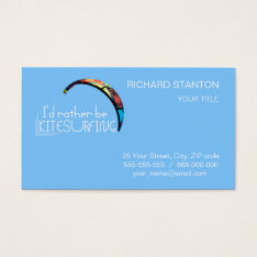Kitesurfing Business Card at Zazzle