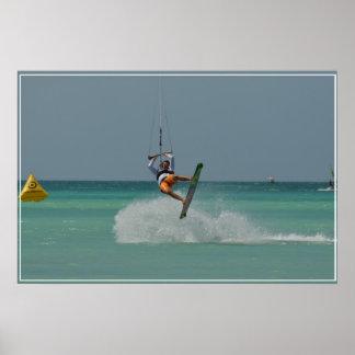 Kitesurfing Flip Poster