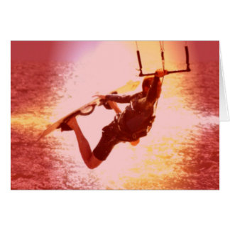 Kitesurfing Grab Greeting Card
