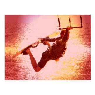 Kitesurfing Grab Postcard