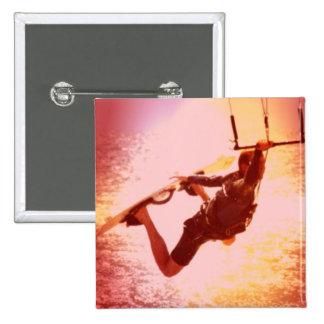 Kitesurfing Grab Square Pin